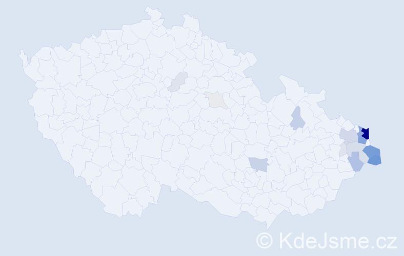 Příjmení: 'Golasowská', počet výskytů 102 v celé ČR