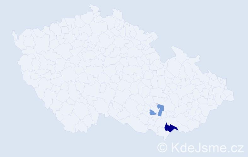 Příjmení: 'Kykerle', počet výskytů 4 v celé ČR