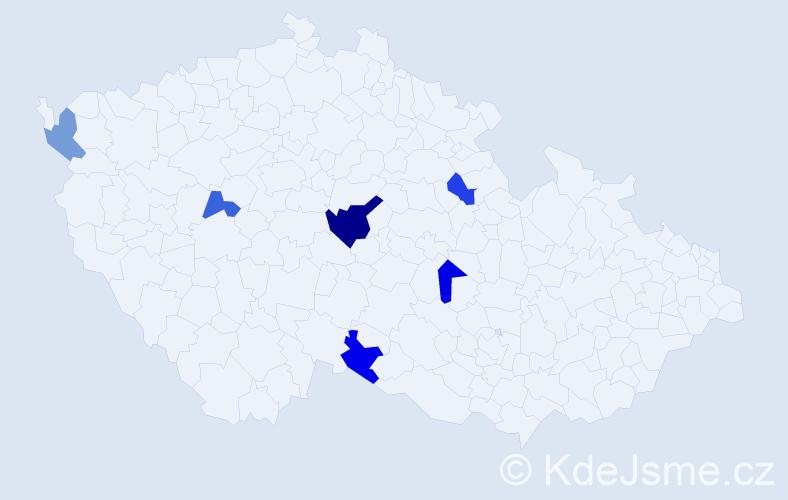 Příjmení: 'Andrašíková', počet výskytů 8 v celé ČR