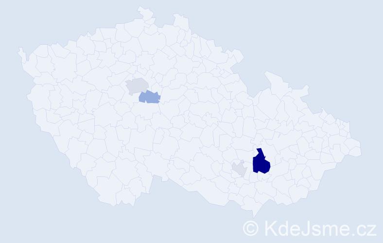 Příjmení: 'Ďuriníková', počet výskytů 10 v celé ČR