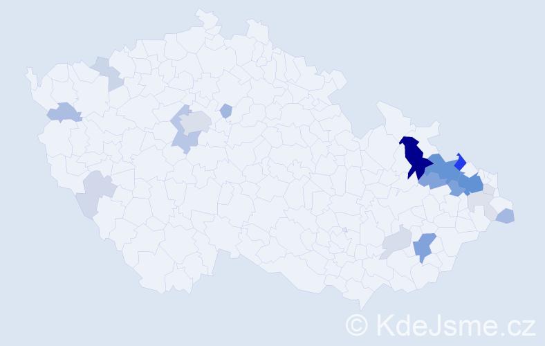 Příjmení: 'Balušková', počet výskytů 76 v celé ČR