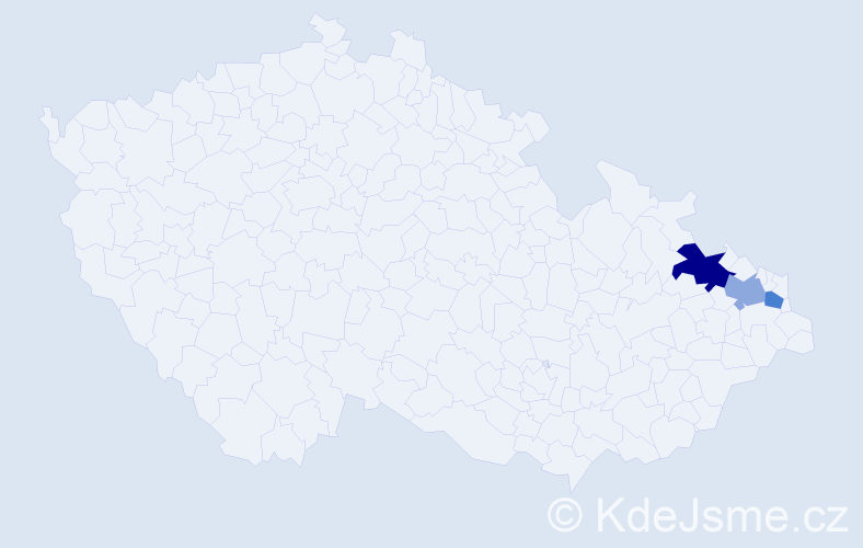 Příjmení: 'Gabanyiová', počet výskytů 4 v celé ČR