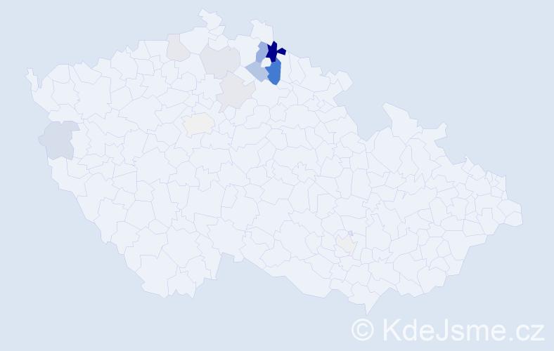 Příjmení: 'Duštíra', počet výskytů 31 v celé ČR