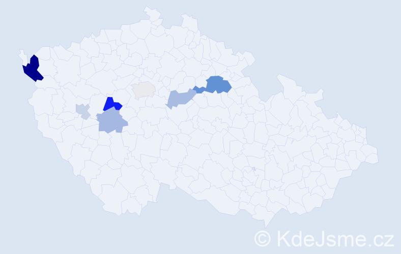 Příjmení: 'Jišková', počet výskytů 15 v celé ČR
