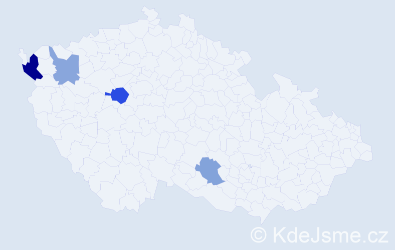 Příjmení: 'Čik', počet výskytů 7 v celé ČR