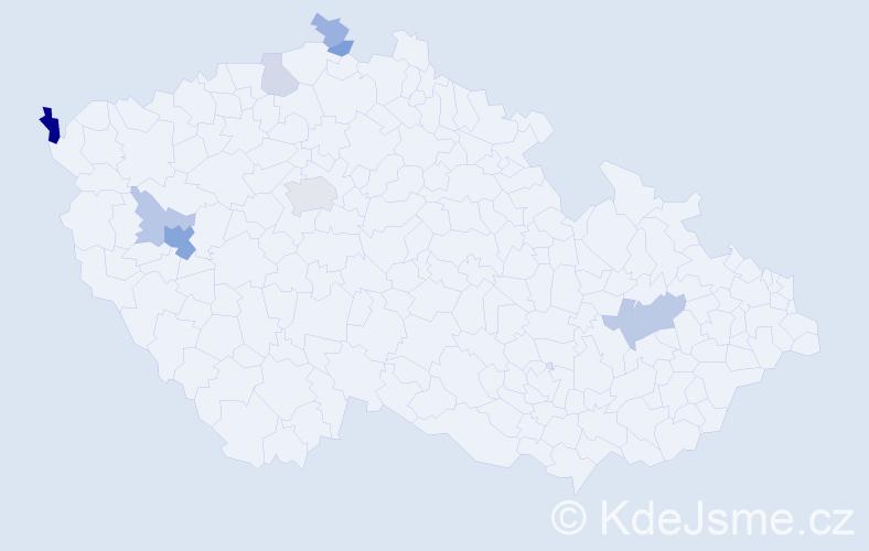 Příjmení: 'Köcher', počet výskytů 17 v celé ČR