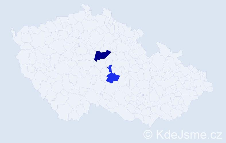 Příjmení: 'Jeryjová', počet výskytů 3 v celé ČR