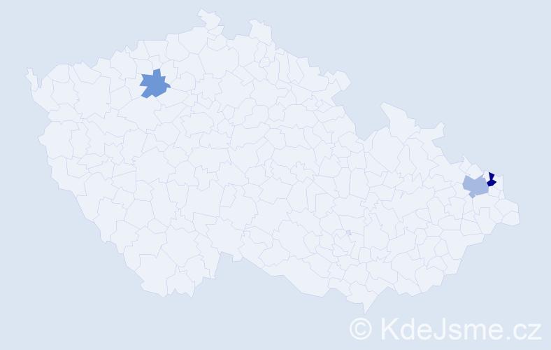 Příjmení: 'Klajmanová', počet výskytů 6 v celé ČR