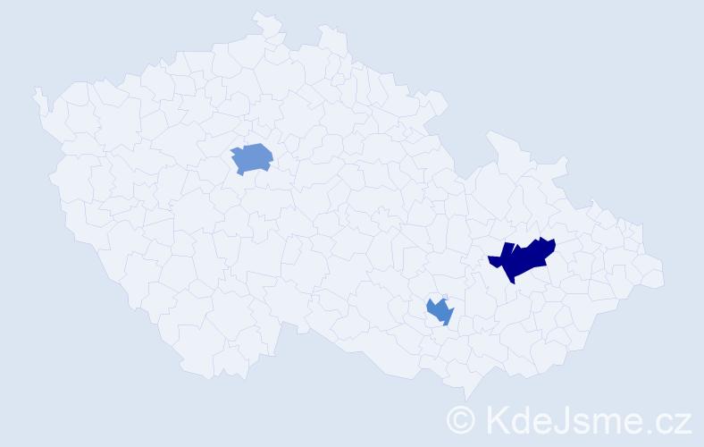 Příjmení: 'Imrych', počet výskytů 4 v celé ČR