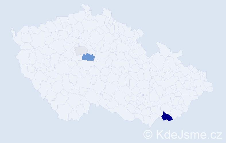 Příjmení: 'Krásničan', počet výskytů 4 v celé ČR