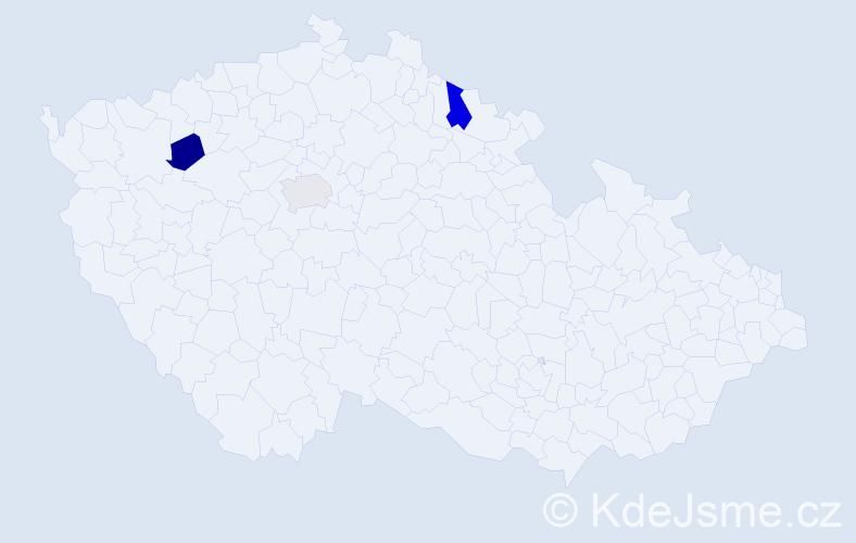 Příjmení: 'Bieleš', počet výskytů 7 v celé ČR
