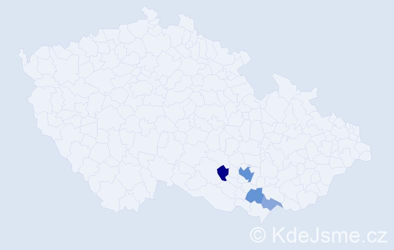 Příjmení: 'Karakevas', počet výskytů 10 v celé ČR
