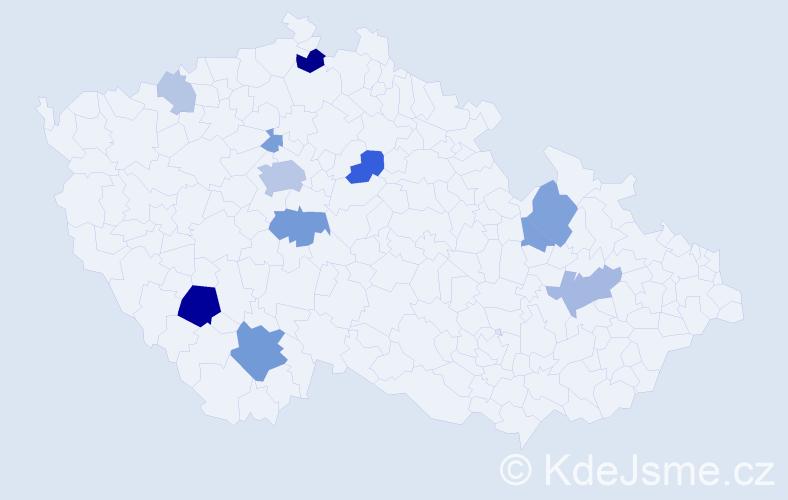 Příjmení: 'Ladislav', počet výskytů 32 v celé ČR