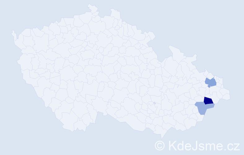 Příjmení: 'Kostuchová', počet výskytů 8 v celé ČR