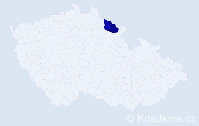 Příjmení: 'Khon', počet výskytů 7 v celé ČR