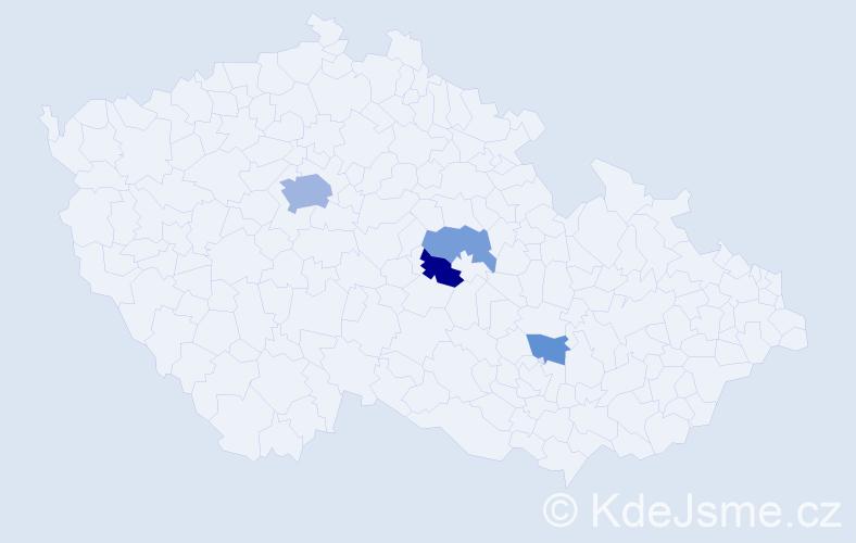 Příjmení: 'Alšrová', počet výskytů 8 v celé ČR