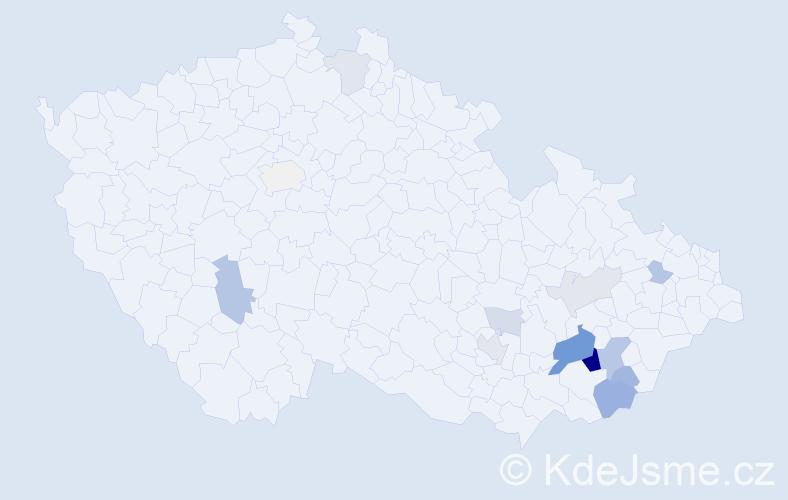 Příjmení: 'Jonášková', počet výskytů 34 v celé ČR