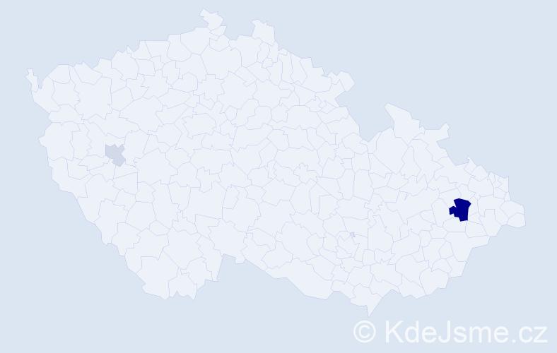 Příjmení: 'Kiesevetter', počet výskytů 7 v celé ČR