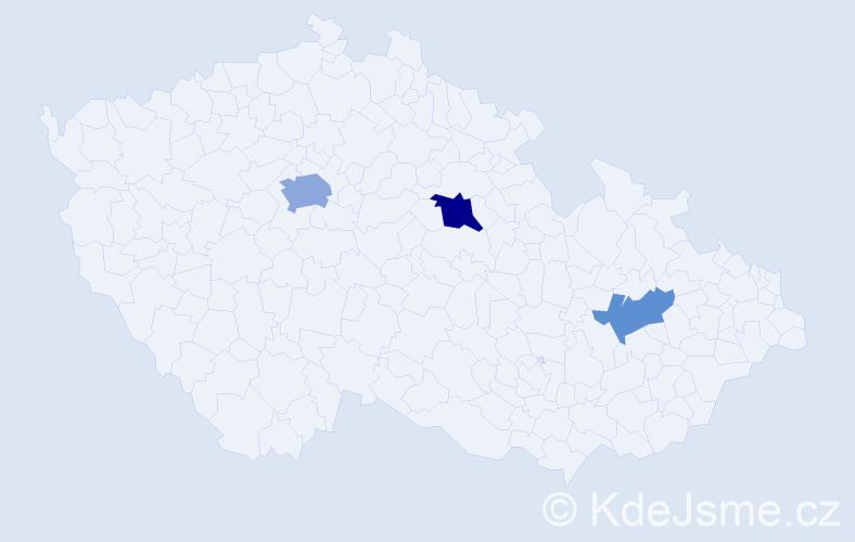 Příjmení: 'Árvaiová', počet výskytů 6 v celé ČR