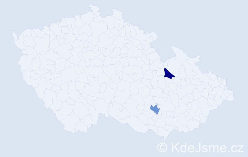Příjmení: 'Ferulíková', počet výskytů 7 v celé ČR