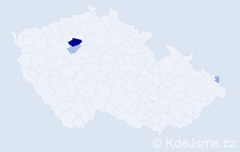 Příjmení: 'Kaczkowski', počet výskytů 5 v celé ČR