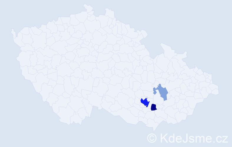 Příjmení: 'Gotkowski', počet výskytů 10 v celé ČR