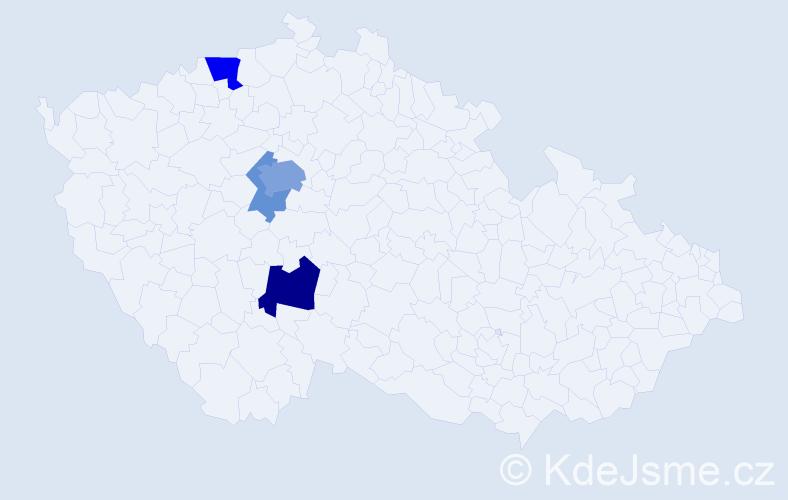 Příjmení: 'Abazid', počet výskytů 10 v celé ČR