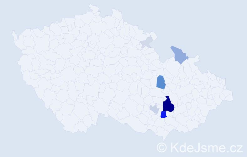 Příjmení: 'Jurůjová', počet výskytů 28 v celé ČR