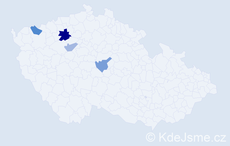 Příjmení: 'Bulandr', počet výskytů 6 v celé ČR