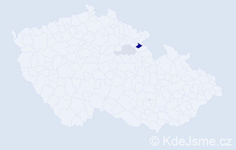 Příjmení: 'Kasapovský', počet výskytů 4 v celé ČR