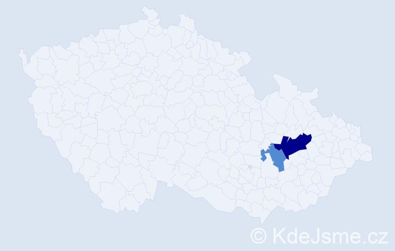 Příjmení: 'Haliřová', počet výskytů 4 v celé ČR