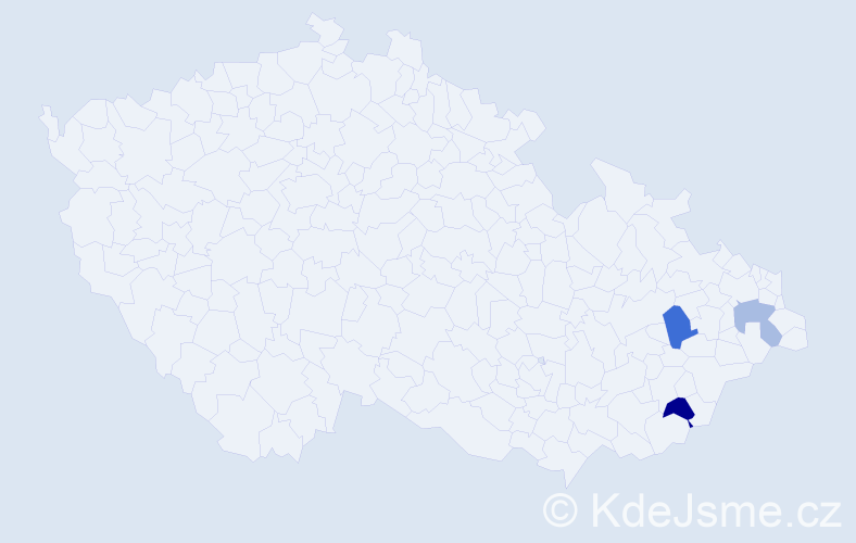 Příjmení: 'Juršová', počet výskytů 8 v celé ČR