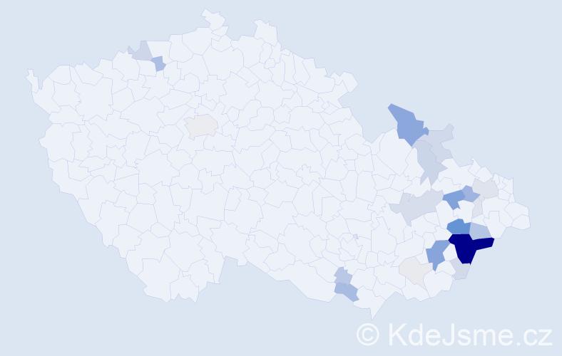 Příjmení: 'Dřevojánek', počet výskytů 112 v celé ČR