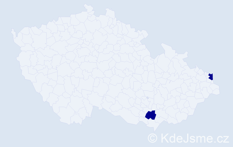Příjmení: 'Istenesová', počet výskytů 4 v celé ČR