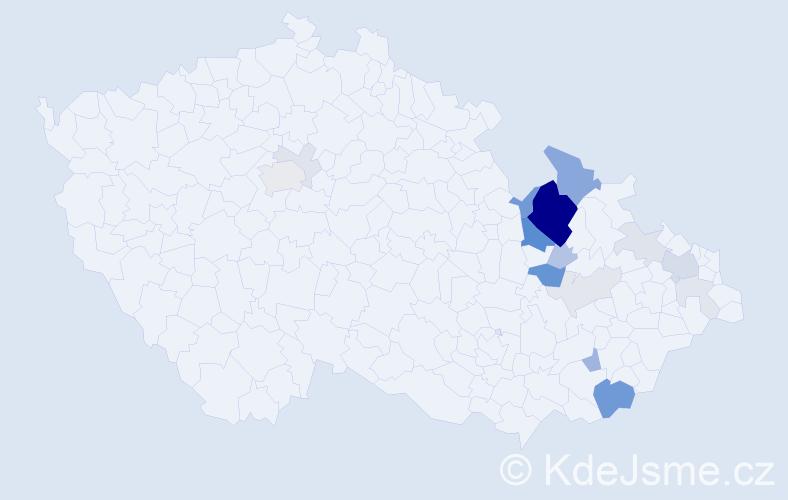 Příjmení: 'Hatoň', počet výskytů 56 v celé ČR