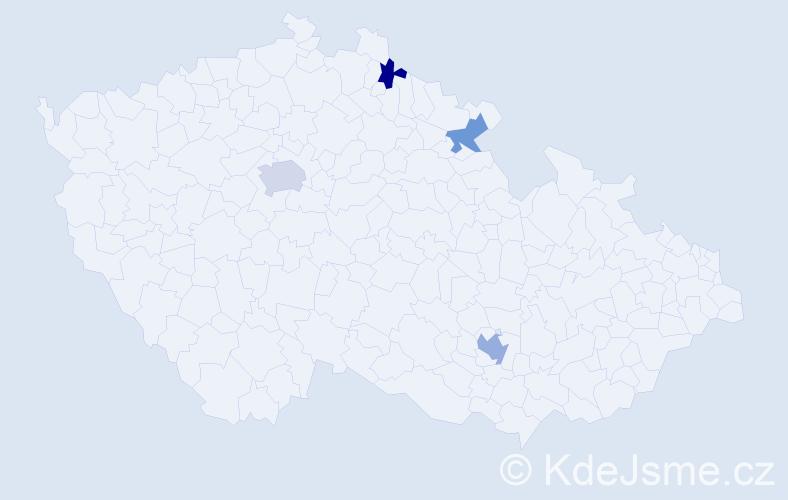 Příjmení: 'Gotwald', počet výskytů 6 v celé ČR