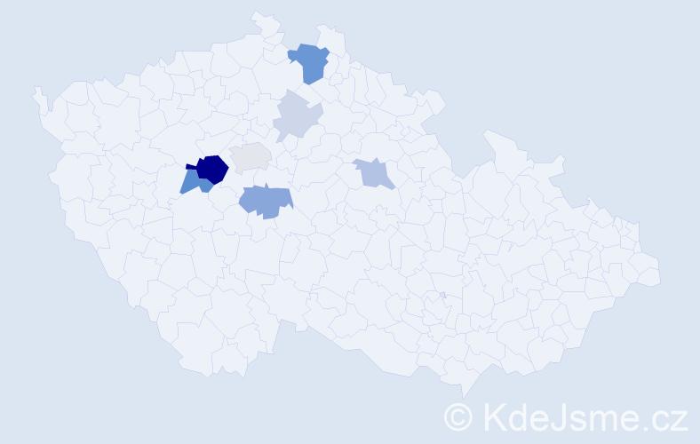 Příjmení: 'Kolmann', počet výskytů 25 v celé ČR