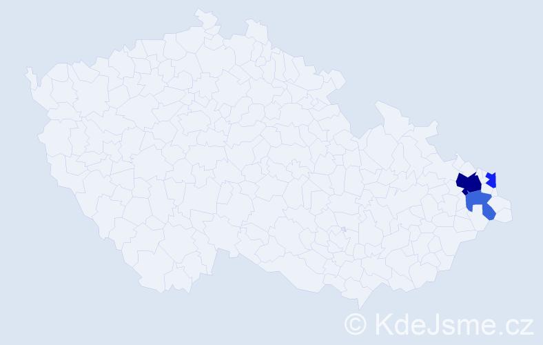 Příjmení: 'Czopik', počet výskytů 6 v celé ČR