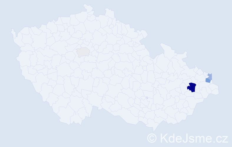 Příjmení: 'Fabšík', počet výskytů 8 v celé ČR