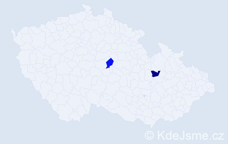 Příjmení: 'Eicher', počet výskytů 4 v celé ČR
