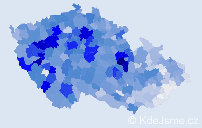Příjmení: 'Benešová', počet výskytů 9907 v celé ČR