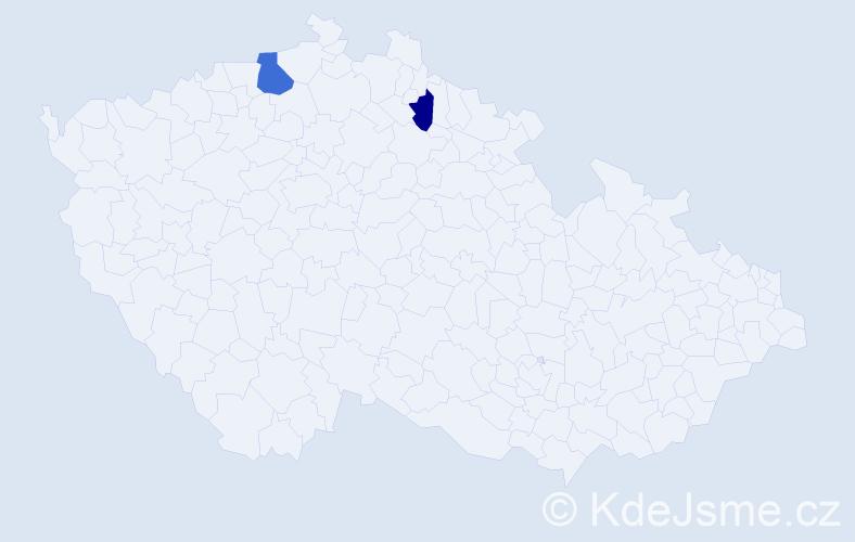 Příjmení: 'Kaväš', počet výskytů 3 v celé ČR