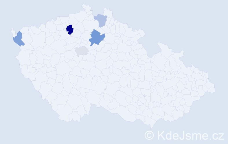 Příjmení: 'Laupyová', počet výskytů 8 v celé ČR