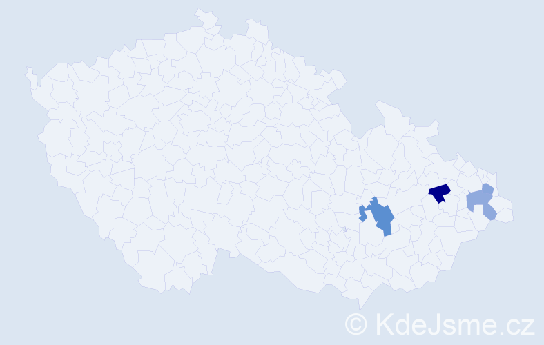 Příjmení: 'Jozefov', počet výskytů 5 v celé ČR