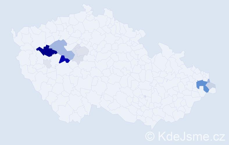 Příjmení: 'Eschnerová', počet výskytů 33 v celé ČR