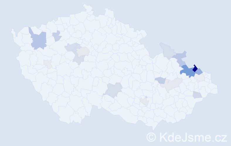 Příjmení: 'Englišová', počet výskytů 51 v celé ČR