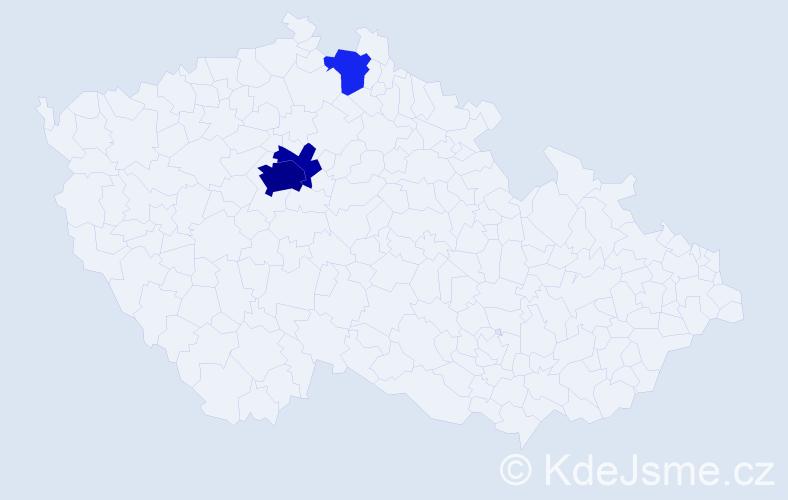 Příjmení: 'Girsová', počet výskytů 11 v celé ČR