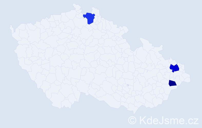 Příjmení: 'Kilar', počet výskytů 8 v celé ČR