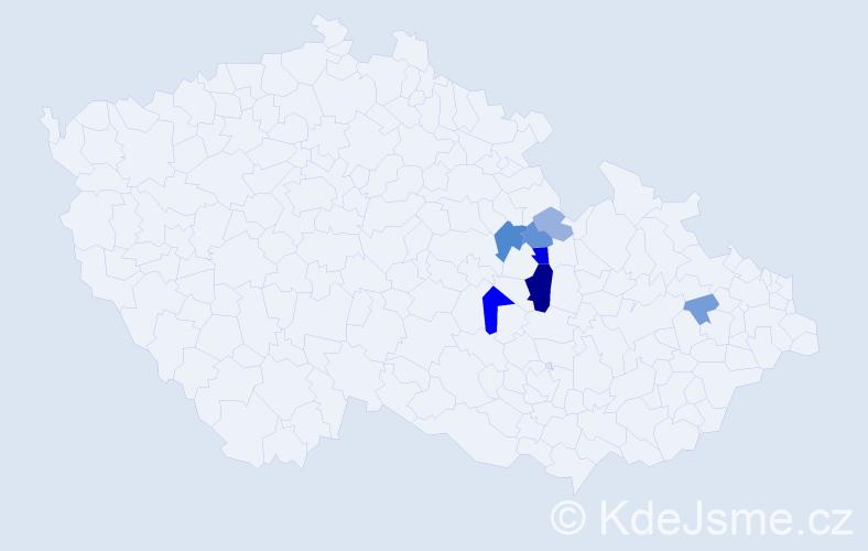 Příjmení: 'Brusenbauch', počet výskytů 19 v celé ČR