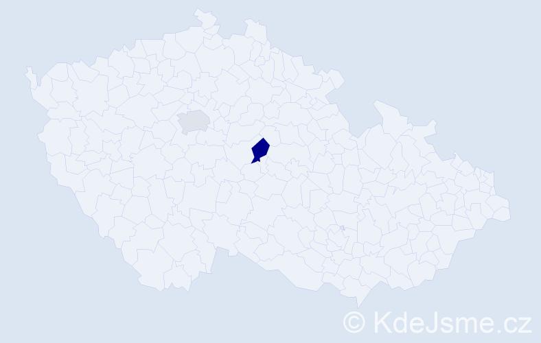 Příjmení: 'Gőllnerová', počet výskytů 2 v celé ČR